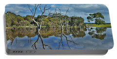 Portable Battery Charger featuring the photograph Glass Lake by Stephen Mitchell