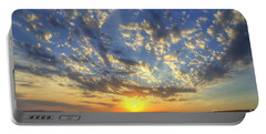 Glorious Sunrise Portable Battery Charger by Jim And Emily Bush