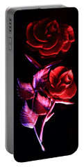 Glowing Glass Rose Portable Battery Charger