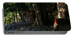 Gnome And The Woodpile Portable Battery Charger