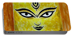 Portable Battery Charger featuring the painting Goddess Kali by Sonali Gangane