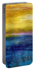 Gold And Pink Sunset Ll Portable Battery Charger