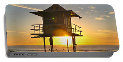 Portable Battery Charger featuring the photograph Gold Coast Life Guard Tower by Eric Tressler