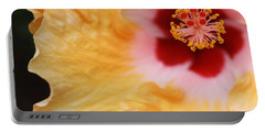 Portable Battery Charger featuring the photograph Golden And Crimson Hibiscus by Donna Smith