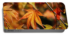 Portable Battery Charger featuring the photograph Golden Fall. by Clare Bambers