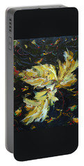 Portable Battery Charger featuring the painting Golden Flight by Judith Rhue