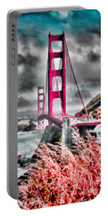 Portable Battery Charger featuring the photograph Golden Gate Bridge - 5 by Mark Madere