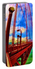 Portable Battery Charger featuring the photograph Golden Gate Bridge - 8 by Mark Madere