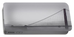 Portable Battery Charger featuring the photograph Golden Gate Morning by Don Schwartz