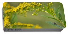 Portable Battery Charger featuring the photograph Golden Perch by JD Grimes