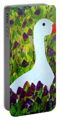 Portable Battery Charger featuring the painting Goose by Barbara Moignard