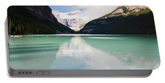 Portable Battery Charger featuring the photograph Gorgeous Lake Louise by Cheryl Baxter