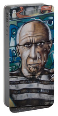 Portable Battery Charger featuring the digital art Graffii Alley by Carol Ailles
