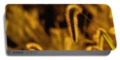 Grass In Golden Light Portable Battery Charger