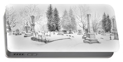 Graveyard In The Snow Portable Battery Charger