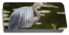 Portable Battery Charger featuring the photograph Great Blue Heron  by Jeannette Hunt