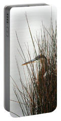 Great Blue Heron Portable Battery Charger by Kay Lovingood