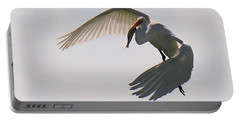 Great Egret Successful Fishing Portable Battery Charger