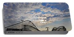 Great White Roller Coaster - Adventure Pier Wildwood Nj At Sunrise Portable Battery Charger