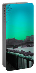 Green Day In London Portable Battery Charger by Jasna Buncic