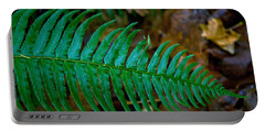 Portable Battery Charger featuring the photograph Green Fern by Tikvah's Hope