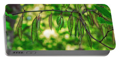 Green Redbud Seed Pods Portable Battery Charger