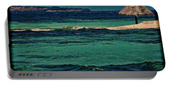 Portable Battery Charger featuring the photograph Grenadines Umbrella by Don Schwartz