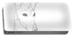 Portable Battery Charger featuring the drawing Greyhound by George Pedro