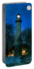 Grosse Point Lighthouse Before Dawn Portable Battery Charger