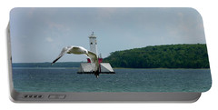 Gull And Lighthouse Portable Battery Charger