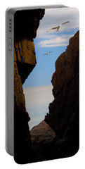 Portable Battery Charger featuring the photograph Gulls Of Acadia by Brent L Ander