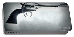 Portable Battery Charger featuring the photograph Guns And Leather 3 by Deniece Platt