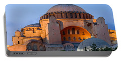 Hagia Sophia At Dusk Portable Battery Charger