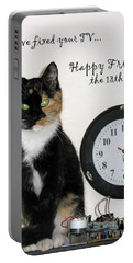 Portable Battery Charger featuring the photograph Happy Friday The 13th by Ausra Huntington nee Paulauskaite