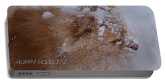 Portable Battery Charger featuring the photograph Happy Holidays Christmas Card by Joanne Smoley