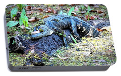 Hard Day In The Swamp - Digital Art Portable Battery Charger by Carol Groenen