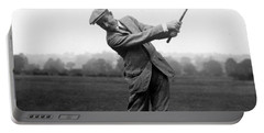 Portable Battery Charger featuring the photograph Harry Vardon Swinging His Golf Club by International  Images