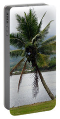Hawaiian Palm Portable Battery Charger by Athena Mckinzie