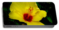 Hawaiian Yellow Hibiscus Portable Battery Charger by Athena Mckinzie