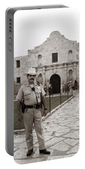 He Guards The Alamo Portable Battery Charger