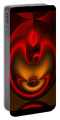 Portable Battery Charger featuring the digital art Hearts Desire by Vicki Pelham
