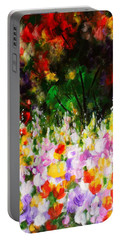 Portable Battery Charger featuring the painting Heavenly Garden by Kume Bryant