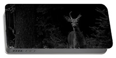 Portable Battery Charger featuring the photograph Hello Deer by Cheryl Baxter