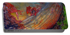 Portable Battery Charger featuring the digital art Here And Now by Richard Laeton