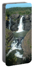 Portable Battery Charger featuring the photograph High Falls Grand Portage by Bonfire Photography