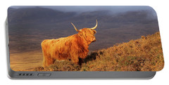 Highland Cattle Landscape Portable Battery Charger