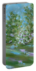 Portable Battery Charger featuring the painting Hilltop by Judith Rhue