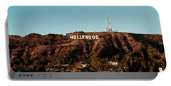 Hollywood Sign At Sunset Portable Battery Charger