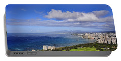 Honolulu From Diamond Head Portable Battery Charger