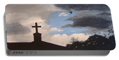 Portable Battery Charger featuring the painting Hope In The Storm by Norm Starks